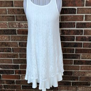 Spring time ivory lace dress
